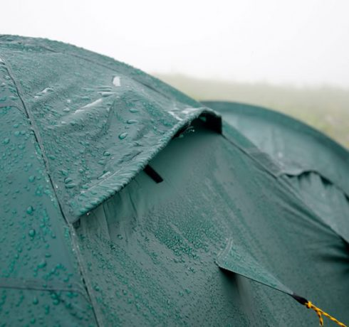 How to set up a tent in the rain